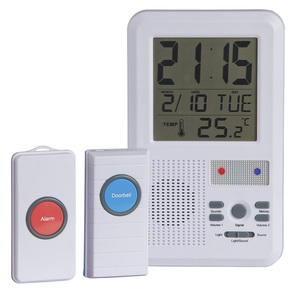 Wireless Doorbell Alarm with Clock & Temperature