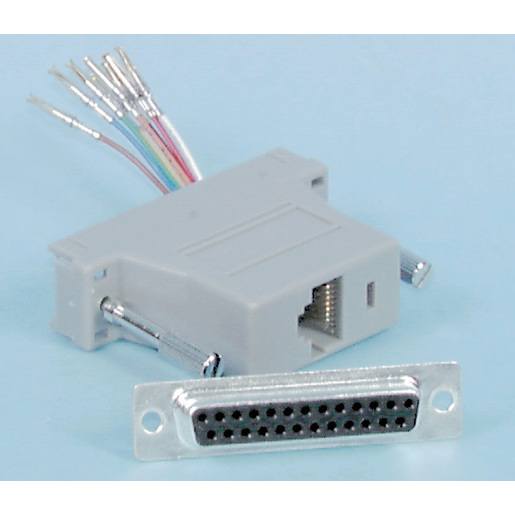 D25 Female to RJ45 Computer Adaptor