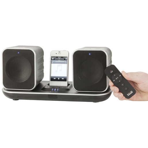 2.4GHz Wireless Stereo Speaker System with Apple® Dock and Induction Charging