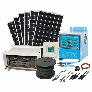Remote Power Packages - 1.2kWh/day System with 1kW Solar