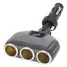 12V/24VDC Cigarette Lighter Socket 3 Way Splitter