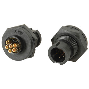 IP67 6 Pin Panel Mount Plug
