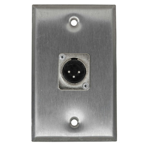Stainless Steel Wall Plate XLR Male