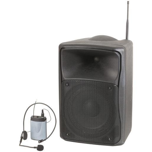 "Rechargeable 8"" PA Speaker with UHF Microphone"