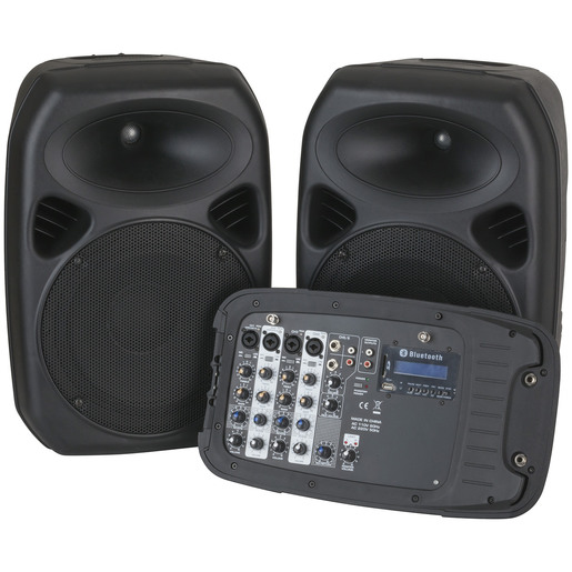 "10"" PA Speaker System with 2 channel UHF Microphones"