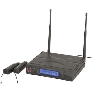 Dual UHF Wireless Microphone Transmitter and Receiver