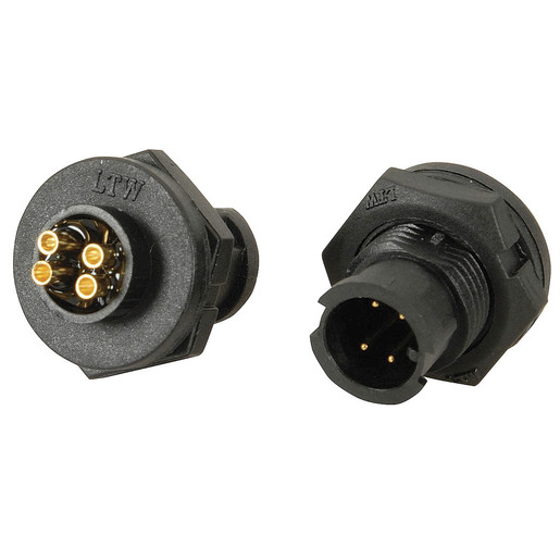 IP67 4 Pin Panel Mount Plug