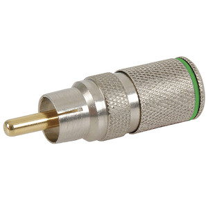 Crimpless RCA Plug - Green