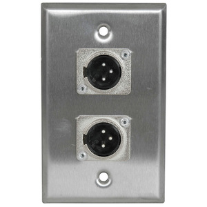 Stainless Steel Wall Plate Dual XLR Male