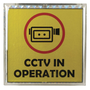 Solar CCTV Warning Sign